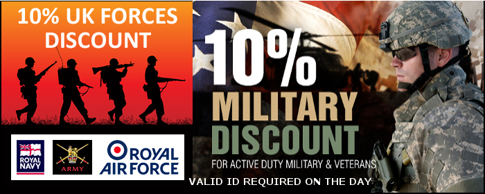 Military Discount Of 10%