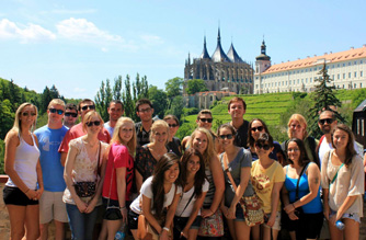 Summer students on the day trip