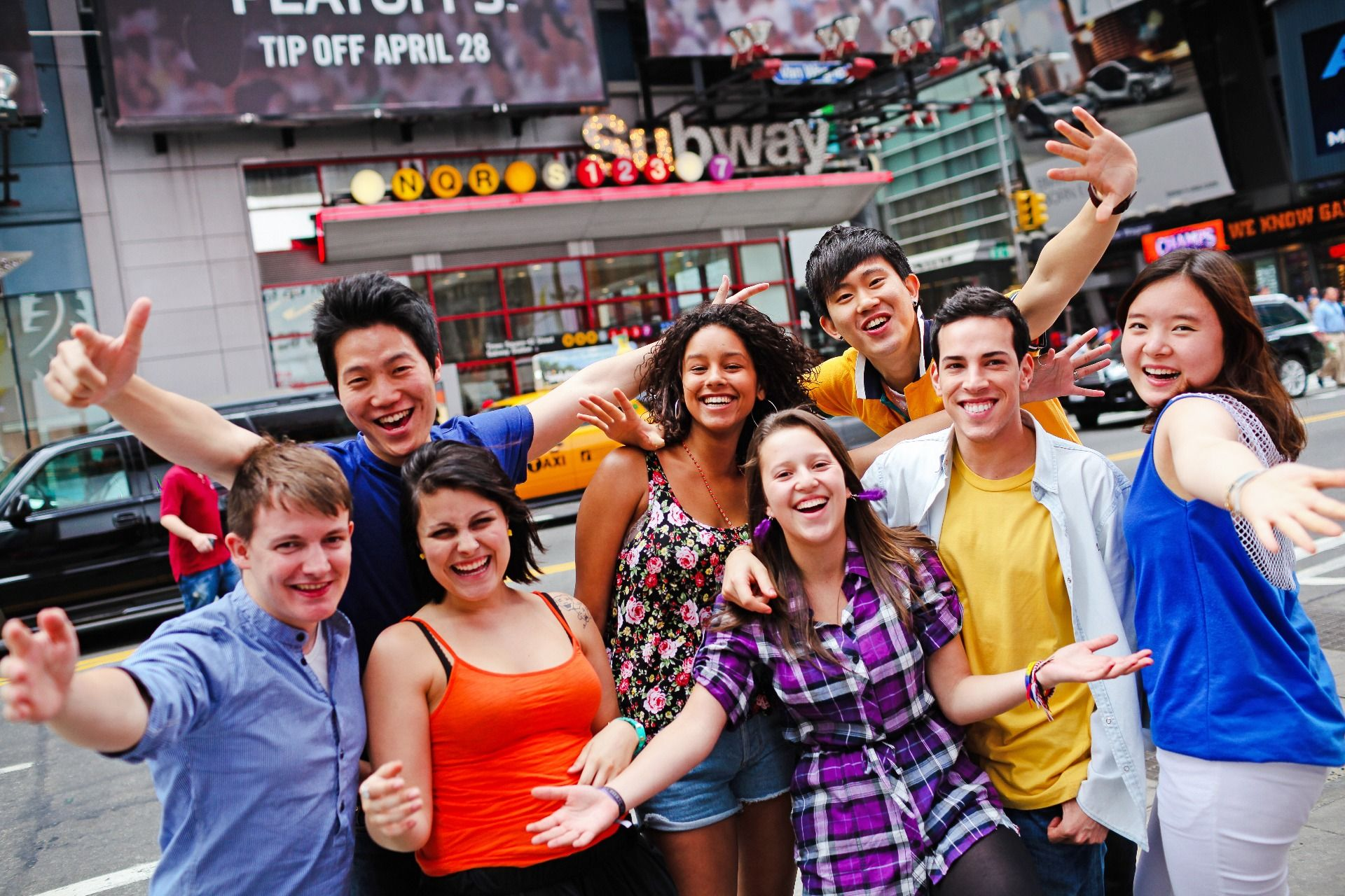 Junior students on a city tour in New York
