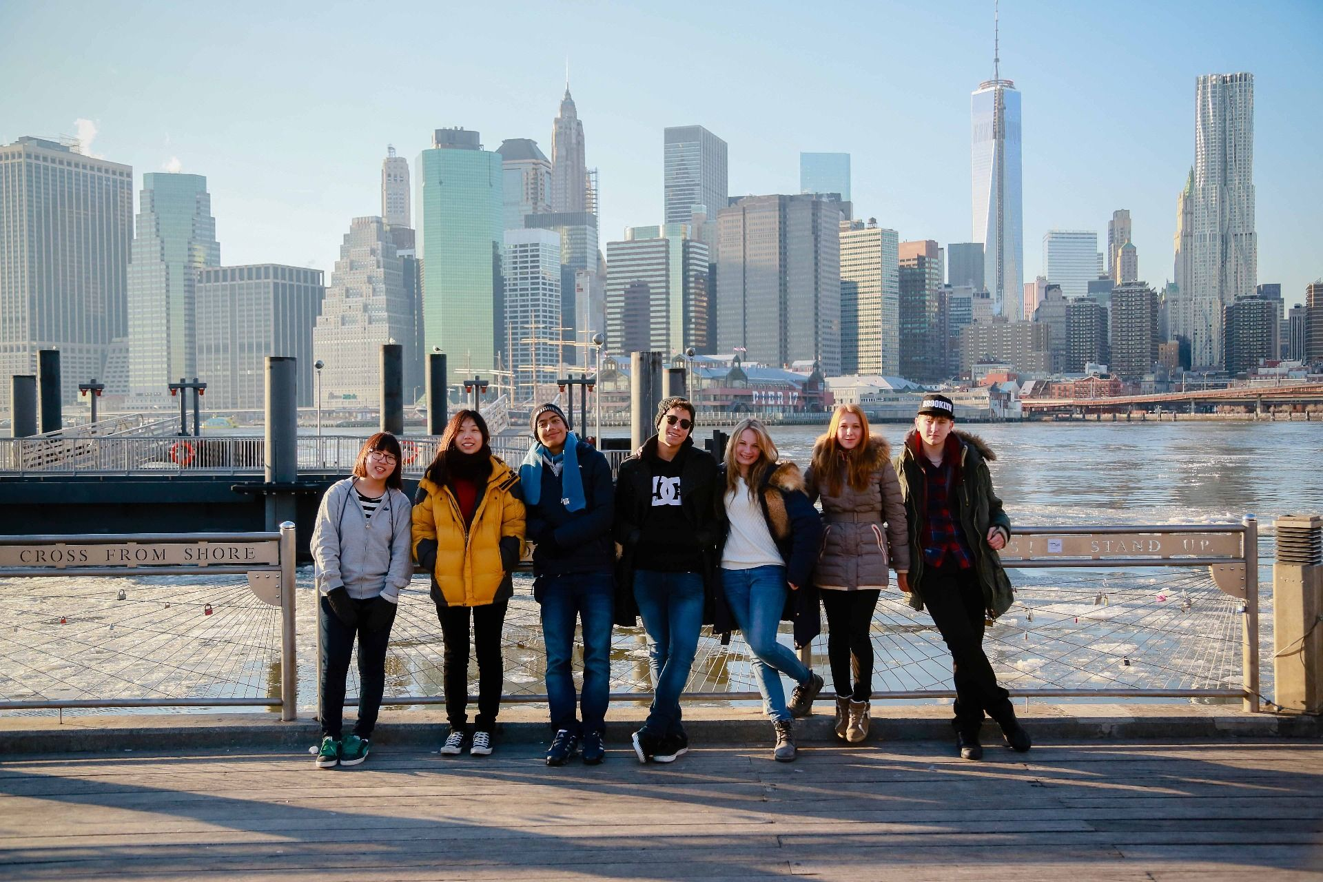 Winter students on activities in New York