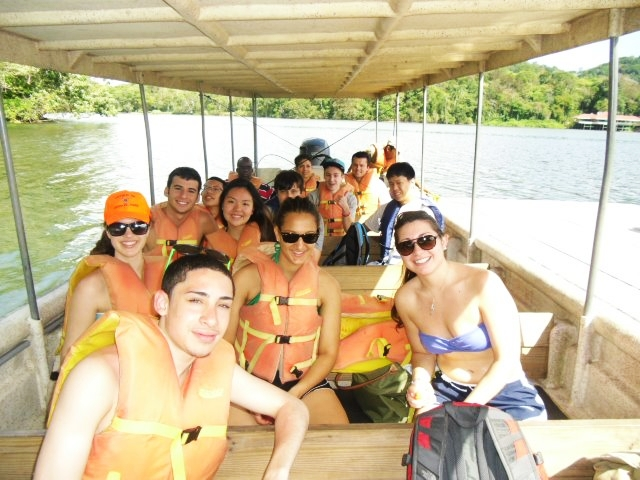 Summer students on the trip in Panama