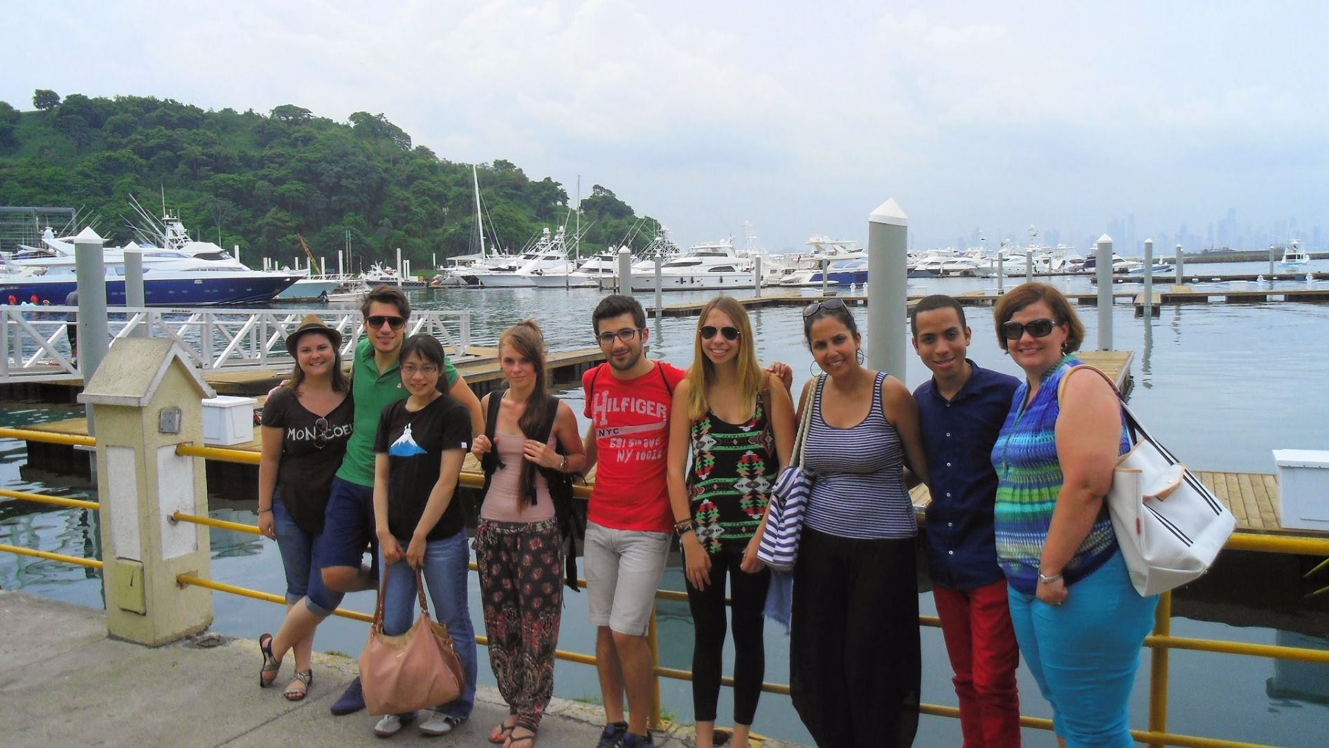Summer students on the activities in Panama