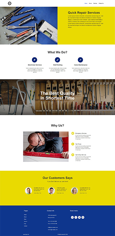 bootstrap responsive website template 9