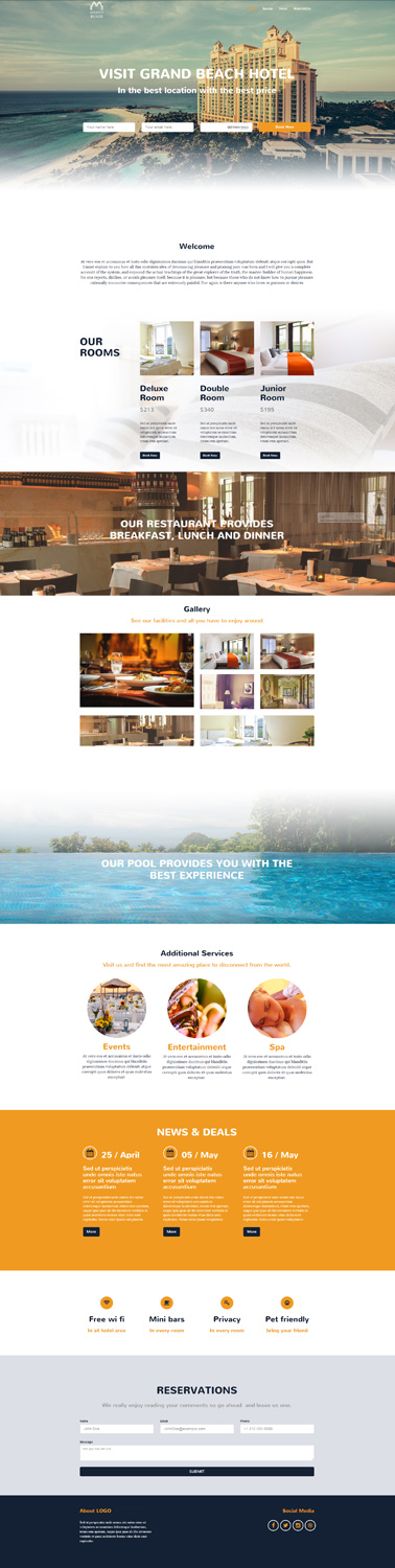bootstrap responsive website template 1
