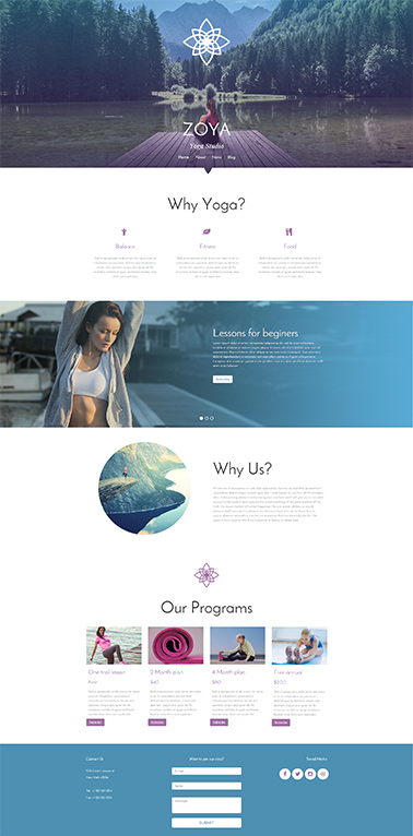 responsive website template 4