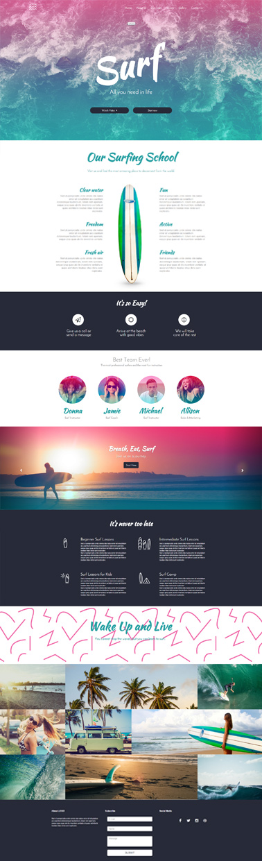 responsive website template 6