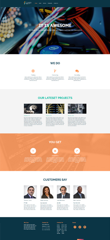 web sites template